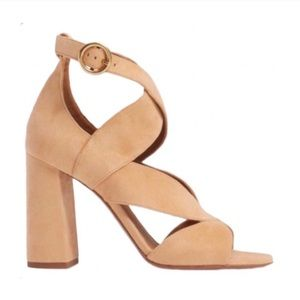 ✨HOST PICK✨ Chloé Graphic Leaves Suede Sandal Heel